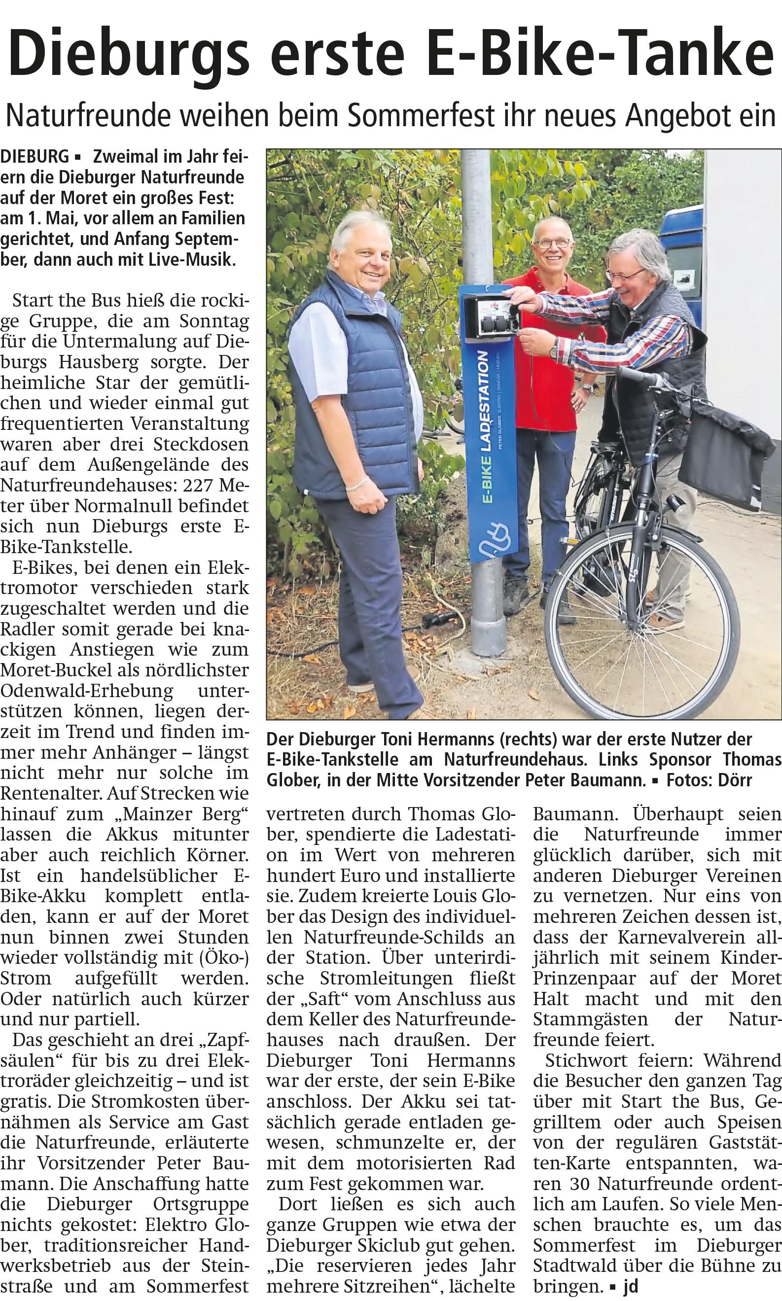 E-Bike-Tankstelle_Peter-Glober_Dieburg-Dieburger Anzeiger